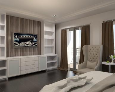 masters bed room interior design